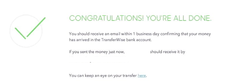 Transferwise匯錢步驟4