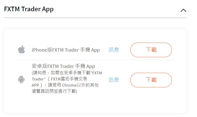 富拓FXTM 下載平台