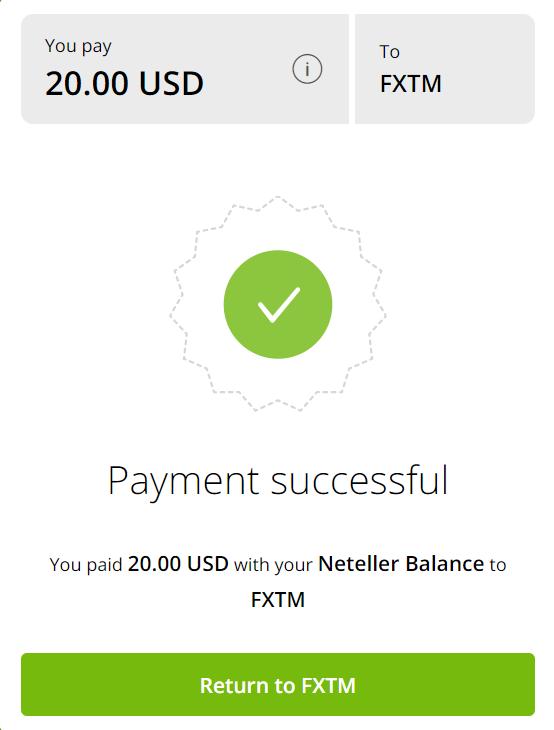 富拓FXTM 入金